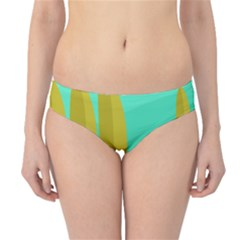 Green and yellow landscape Hipster Bikini Bottoms