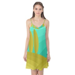 Green and yellow landscape Camis Nightgown