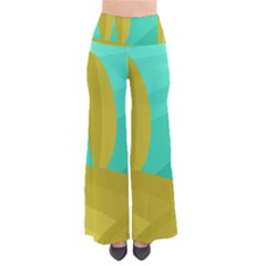 Green and yellow landscape Pants