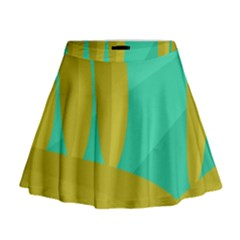 Green and yellow landscape Mini Flare Skirt