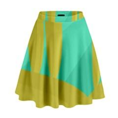 Green and yellow landscape High Waist Skirt