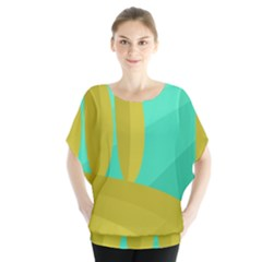 Green and yellow landscape Blouse
