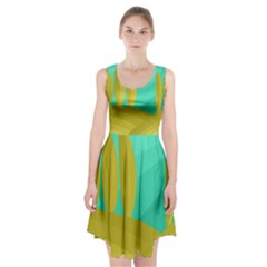 Green and yellow landscape Racerback Midi Dress