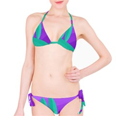 Purple and green landscape Bikini Set