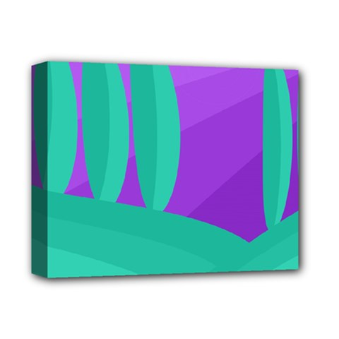 Purple and green landscape Deluxe Canvas 14  x 11