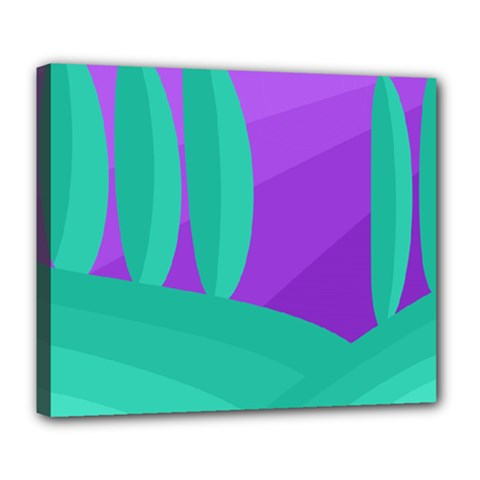 Purple and green landscape Deluxe Canvas 24  x 20