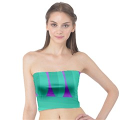 Purple and green landscape Tube Top