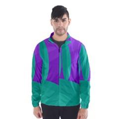 Purple and green landscape Wind Breaker (Men)