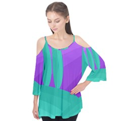 Purple and green landscape Flutter Tees