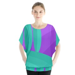 Purple and green landscape Blouse
