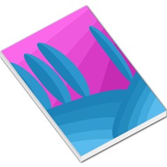 Pink and blue landscape Large Memo Pads