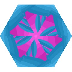 Pink and blue landscape Mini Folding Umbrellas