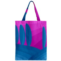 Pink and blue landscape Classic Tote Bag