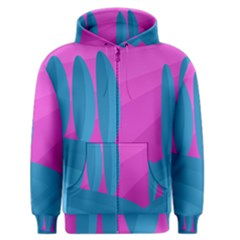 Pink and blue landscape Men s Zipper Hoodie