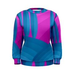 Pink and blue landscape Women s Sweatshirt