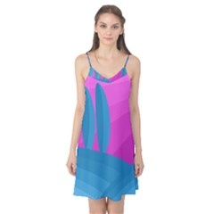 Pink and blue landscape Camis Nightgown