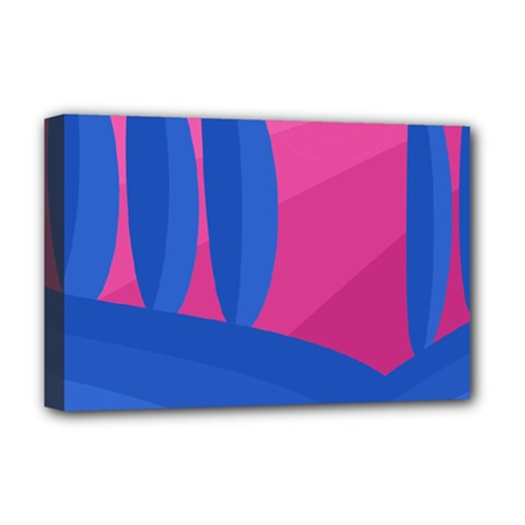 Magenta and blue landscape Deluxe Canvas 18  x 12