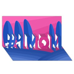 Magenta and blue landscape #1 MOM 3D Greeting Cards (8x4)