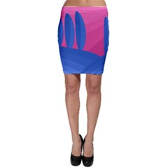Magenta and blue landscape Bodycon Skirt