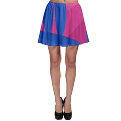Magenta and blue landscape Skater Skirt
