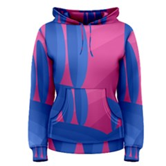 Magenta and blue landscape Women s Pullover Hoodie