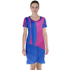 Magenta and blue landscape Short Sleeve Nightdress