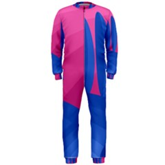 Magenta and blue landscape OnePiece Jumpsuit (Men)