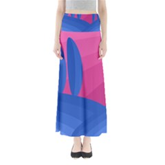 Magenta and blue landscape Maxi Skirts
