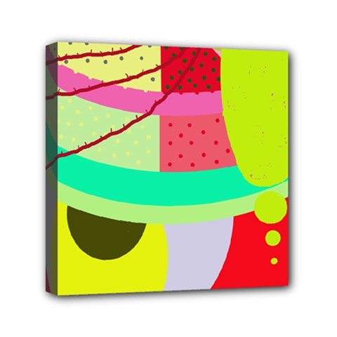 Colorful abstraction by Moma Mini Canvas 6  x 6
