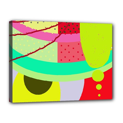 Colorful abstraction by Moma Canvas 16  x 12