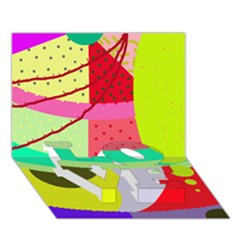 Colorful abstraction by Moma LOVE Bottom 3D Greeting Card (7x5)