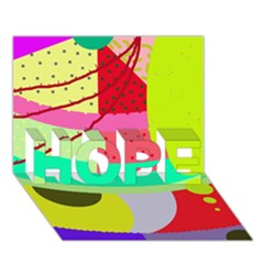 Colorful abstraction by Moma HOPE 3D Greeting Card (7x5)