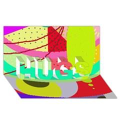 Colorful abstraction by Moma HUGS 3D Greeting Card (8x4)