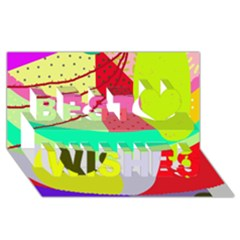 Colorful abstraction by Moma Best Wish 3D Greeting Card (8x4)
