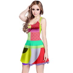 Colorful abstraction by Moma Reversible Sleeveless Dress