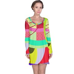 Colorful abstraction by Moma Long Sleeve Nightdress