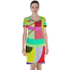 Colorful abstraction by Moma Short Sleeve Nightdress