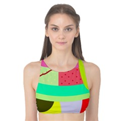 Colorful abstraction by Moma Tank Bikini Top