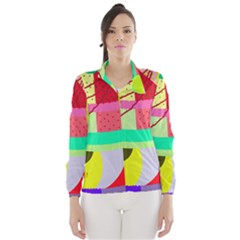 Colorful abstraction by Moma Wind Breaker (Women)