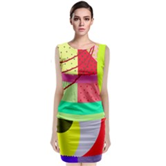 Colorful abstraction by Moma Classic Sleeveless Midi Dress