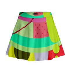 Colorful abstraction by Moma Mini Flare Skirt