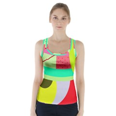 Colorful abstraction by Moma Racer Back Sports Top