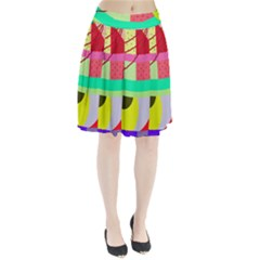Colorful Abstraction By Moma Pleated Skirt