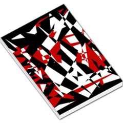Red, black and white chaos Large Memo Pads