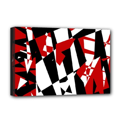 Red, black and white chaos Deluxe Canvas 18  x 12