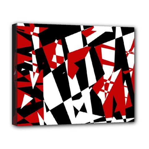 Red, black and white chaos Deluxe Canvas 20  x 16