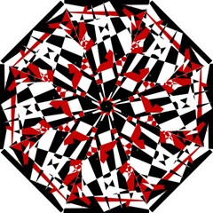 Red, black and white chaos Hook Handle Umbrellas (Small)