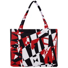 Red, black and white chaos Mini Tote Bag