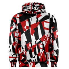 Red, black and white chaos Men s Pullover Hoodie