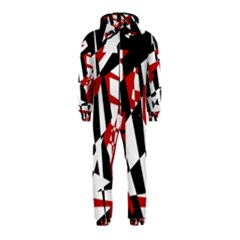 Red, black and white chaos Hooded Jumpsuit (Kids)
